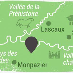 Visuel des espaces culturels de la Dordogne