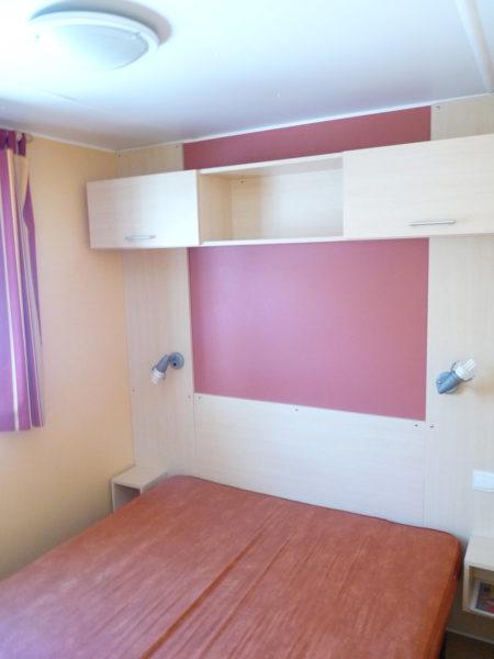 Chambre du mobil'home pour 2 personnes