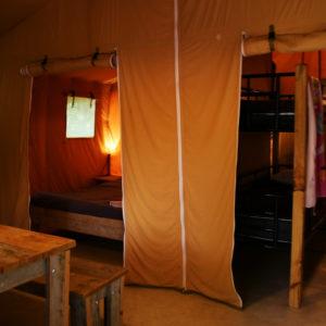 L'espace intérieur du bungalow