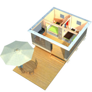 Le plan du bungalow en toile