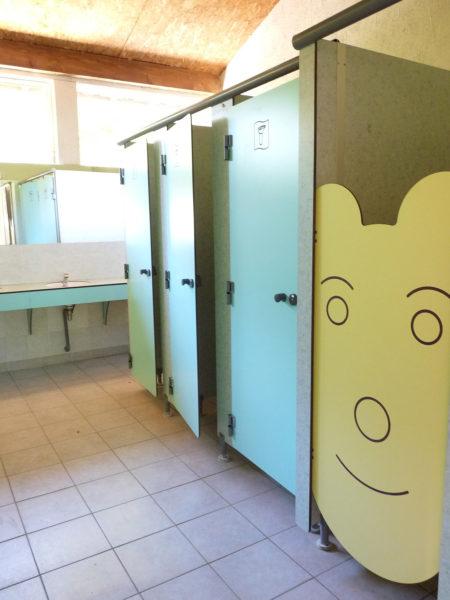 Des cabines sanitaires spécialement pour les enfants