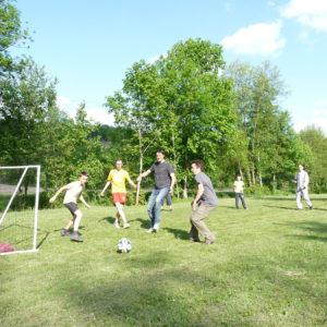 Parties de Football au camping