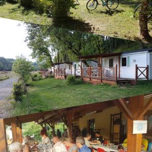 Montage photo pour les réservations de groupe au camping La Lénotte