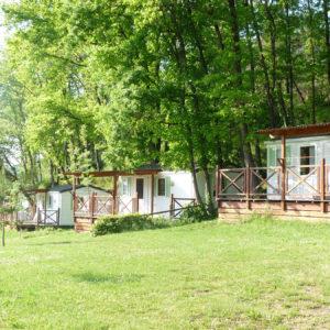 Les arbres et la nature pour les emplacements du camping
