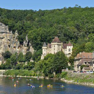Paysage de Dordogne en été
