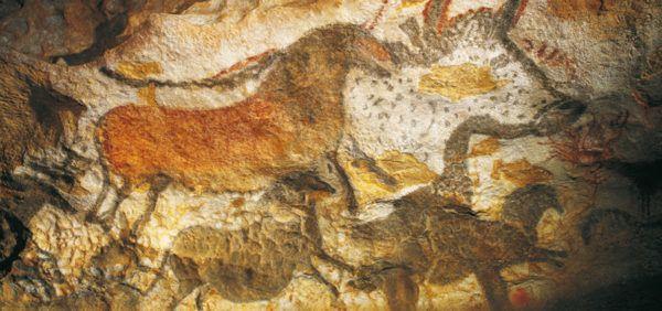 Photo des œuvres de la grotte de Lascaux en Dordogne