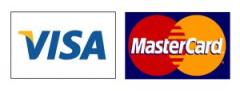 Moyen de paiement : logo cartes VISA et Mastercard