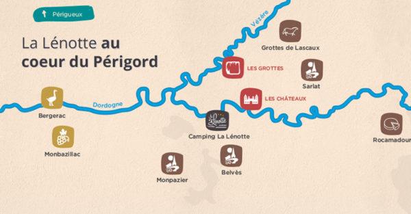 Carte de La Lénotte au coeur du Périgord